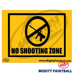 Safety Sign - Non Shooting Zone
