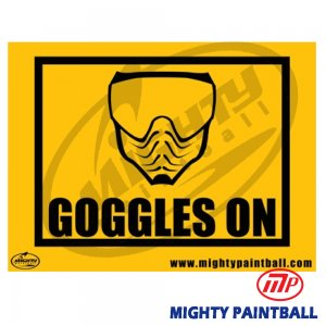 Safety Sign - Goggles On