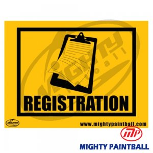Safety Sign - Registration
