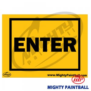 Safety Sign - ENTER