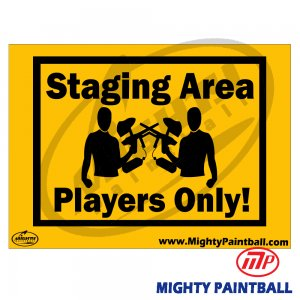 Safety Sign - STAGING AREA